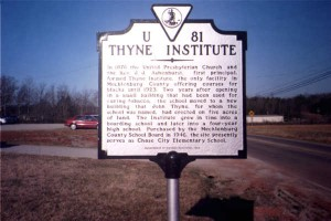 Thyne Institute, Chase City, Mecklenburg Co.